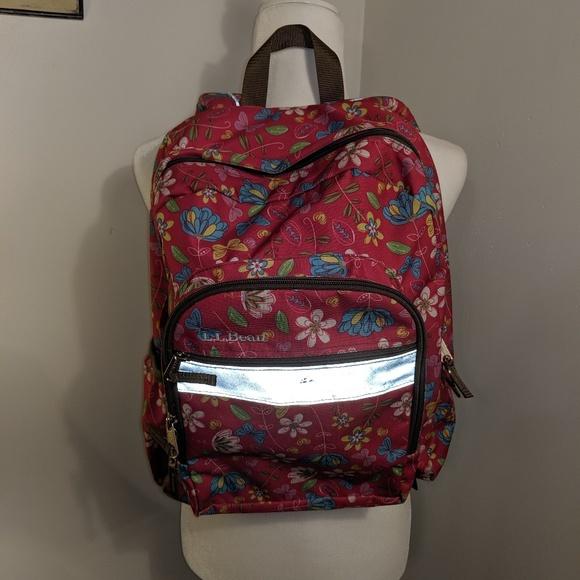 L.L. Bean Handbags - L.L. Bean Floral Backpack